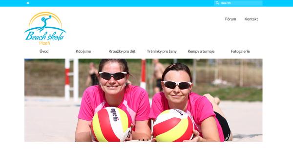 Webové stránky Plzeň – beachvolejbalová škola