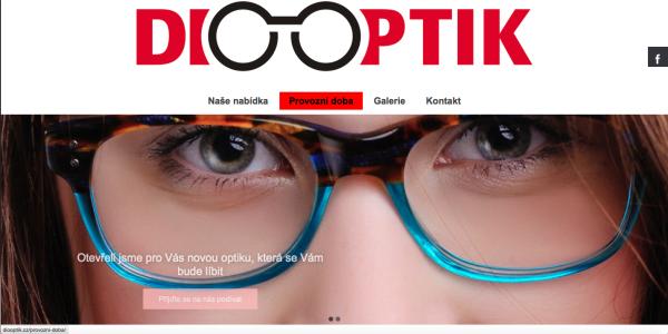 Webová stránka – optika v Žatci